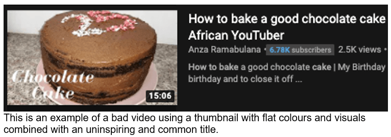 YouTube thumbnail and title 2
