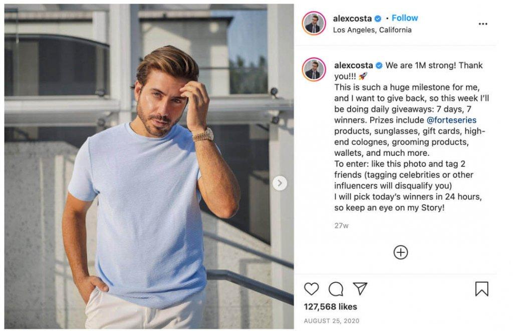 Alex Costa Influencer