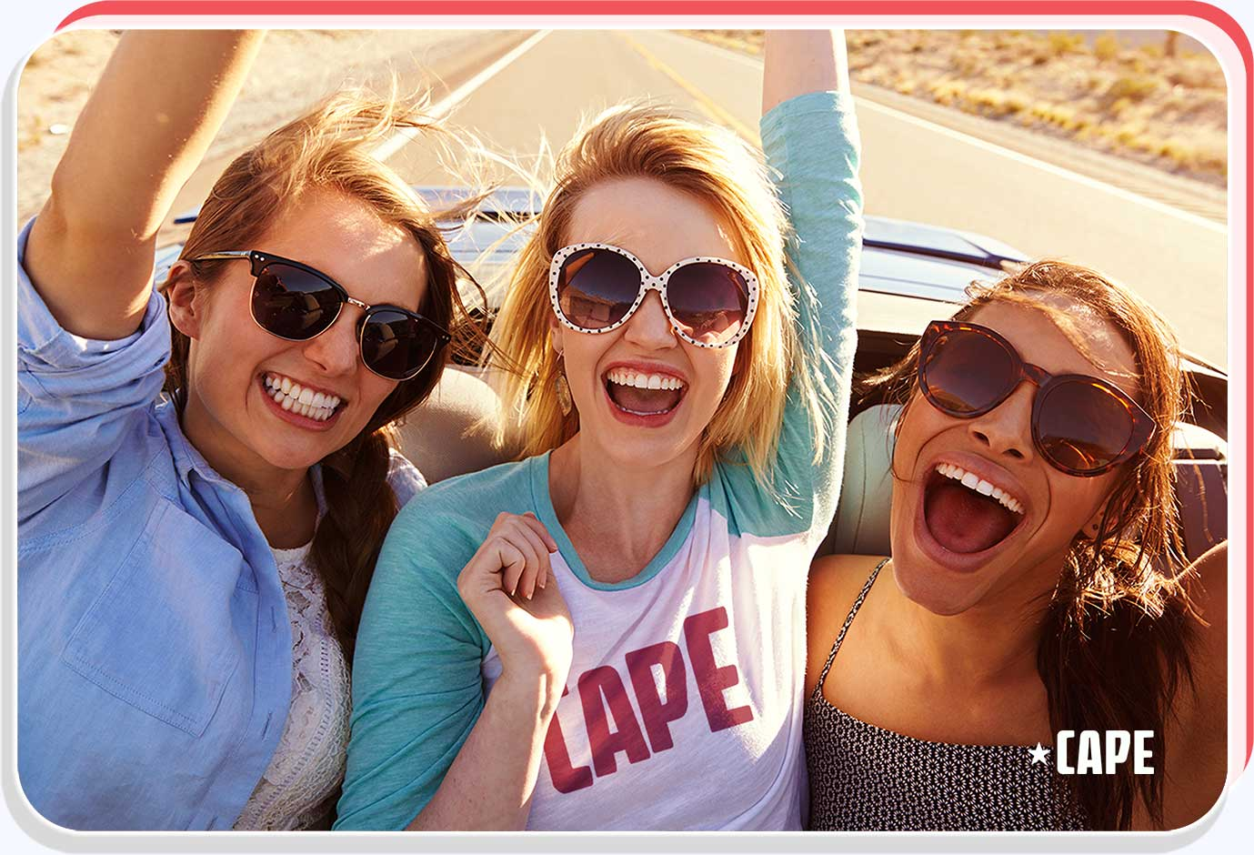 Cape Influencers riding in a car