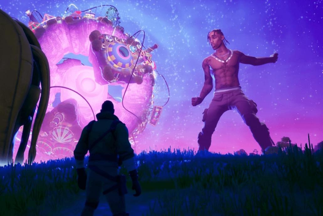 In game image of Fortnites Travis Scott Concert - Source Epic Games