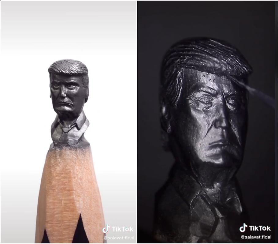 Salavet Fidai social media influencer sculpture
