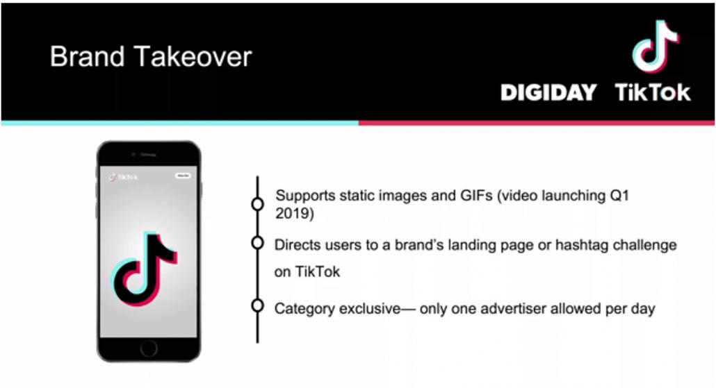 TikTok brand takeover example