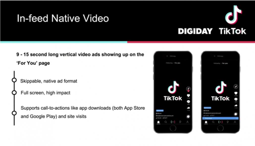 TikTok infeed native video description